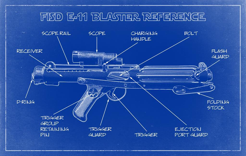 Star Wars Stormtrooper E11 Blaster Build-Trigger Mechanism Change Lever
